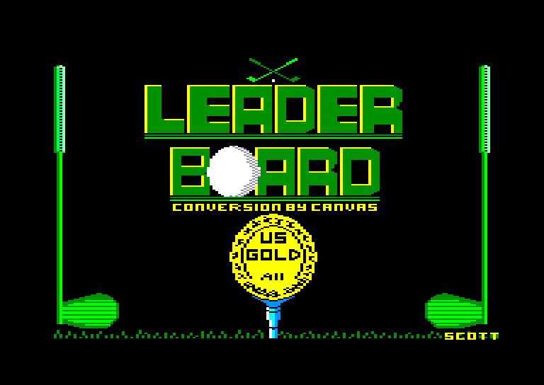 screenshot of the Amstrad CPC game Leader Board