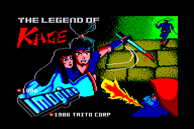 screenshot of the Amstrad CPC game Legend of Kage (the)