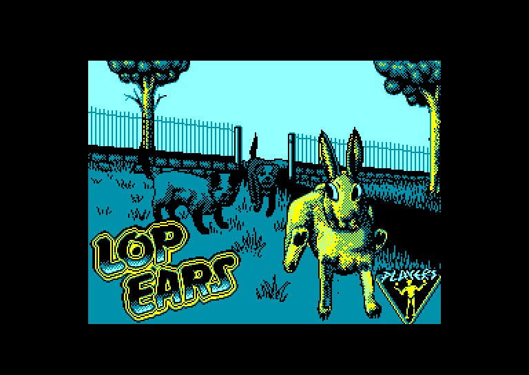 screenshot of the Amstrad CPC game Lop Ears