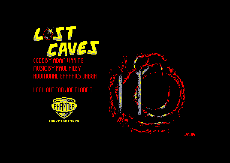 screenshot of the Amstrad CPC game Lost caves and the tomb of doom