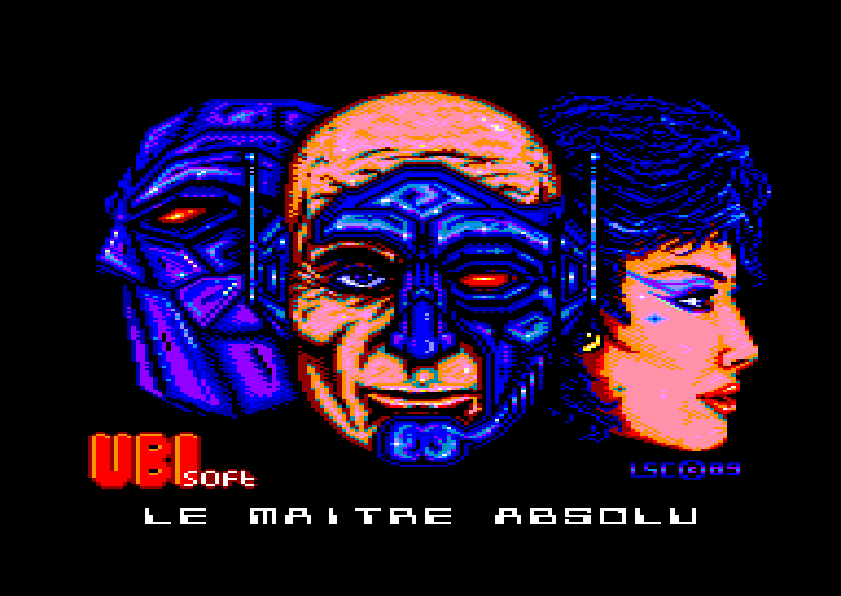 screenshot of the Amstrad CPC game Maitre Absolu (le)