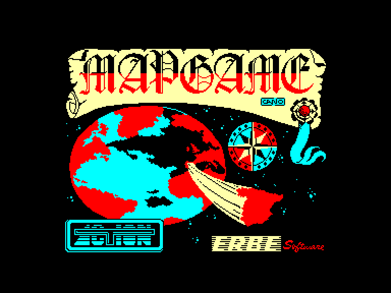 screenshot of the Amstrad CPC game Mapgame