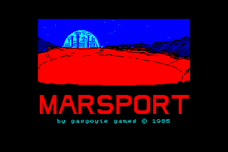 screenshot of the Amstrad CPC game Marsport
