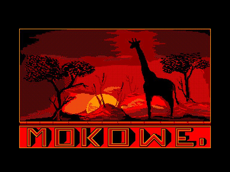 screenshot of the Amstrad CPC game Mokowe