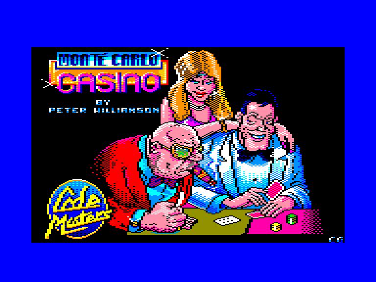 screenshot of the Amstrad CPC game Monte carlo casino