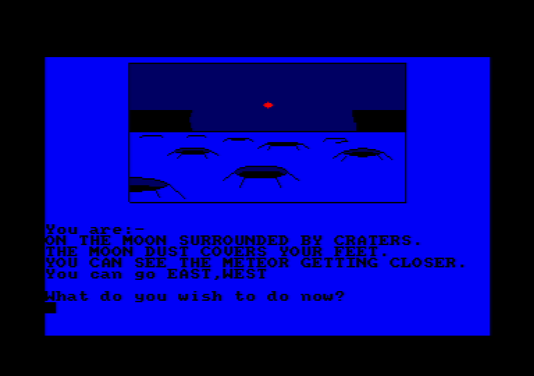 game screenshot of the amstrad CPC game Moon Base III