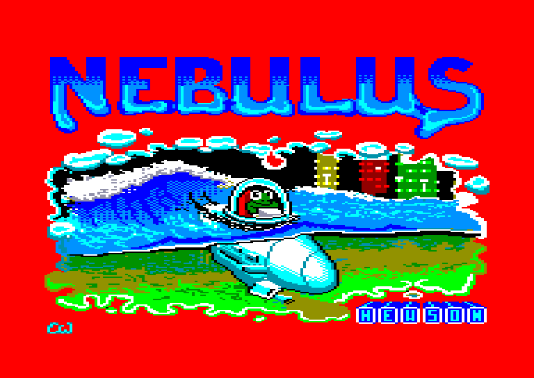 screenshot of the Amstrad CPC game Nebulus