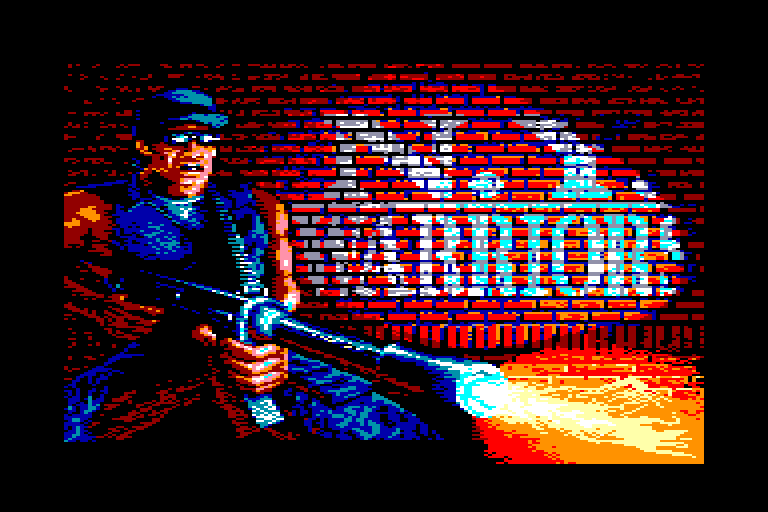 screenshot of the Amstrad CPC game New york warriors