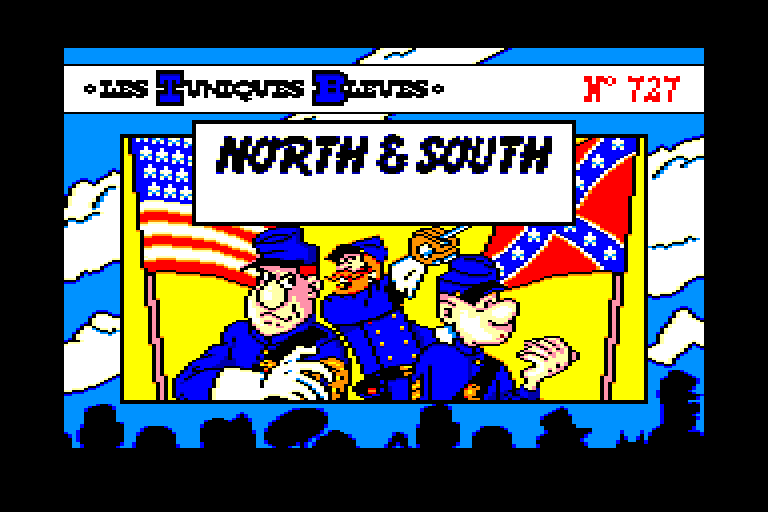 loading screen of the Amstrad CPC game North and South