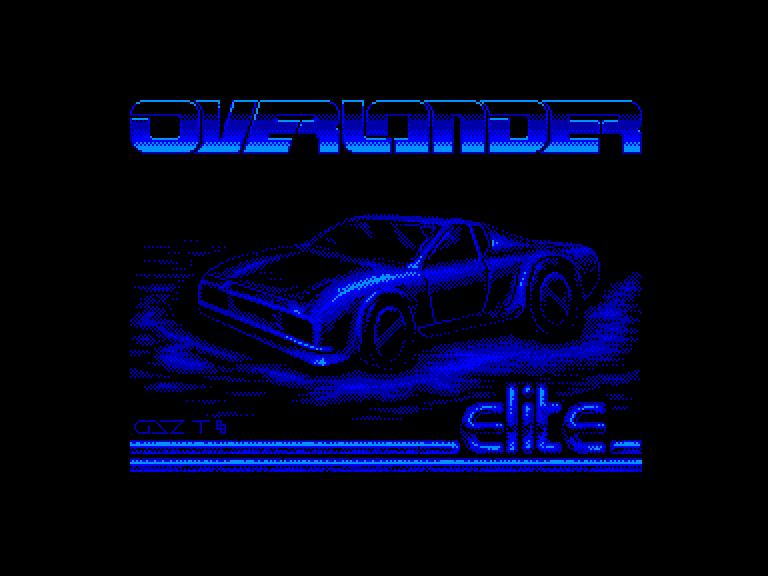 screenshot of the Amstrad CPC game Overlander