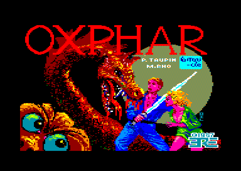 screenshot of the Amstrad CPC game Oxphar