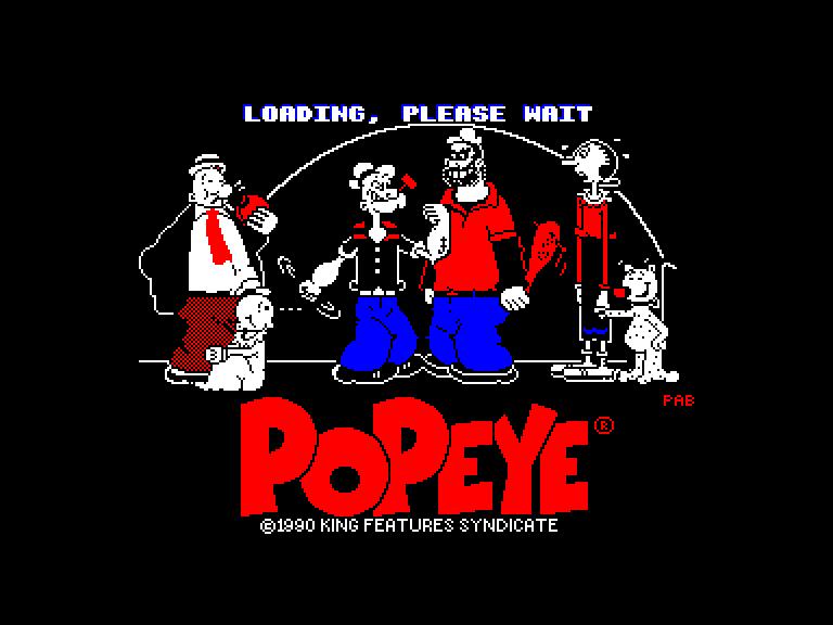 screenshot of the Amstrad CPC game Popeye 2