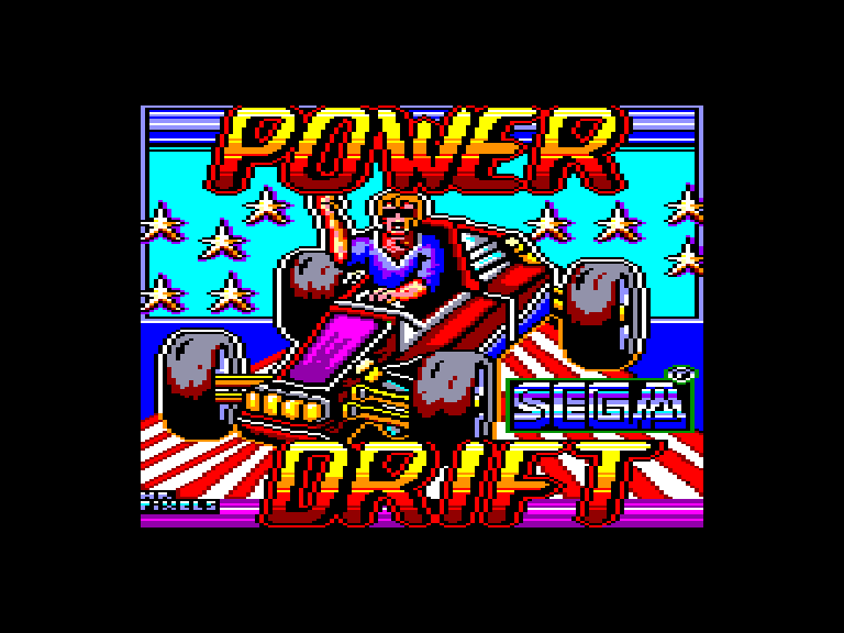 screenshot of the Amstrad CPC game Power Drift