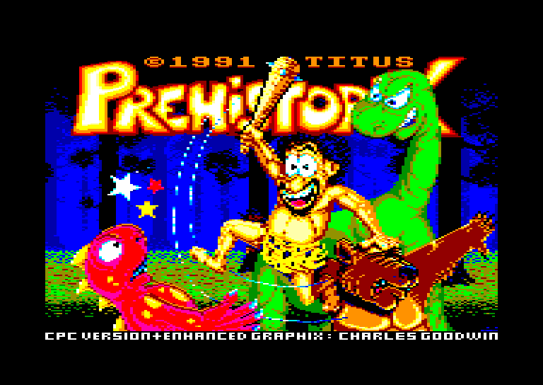 screenshot of the Amstrad CPC game Prehistorik