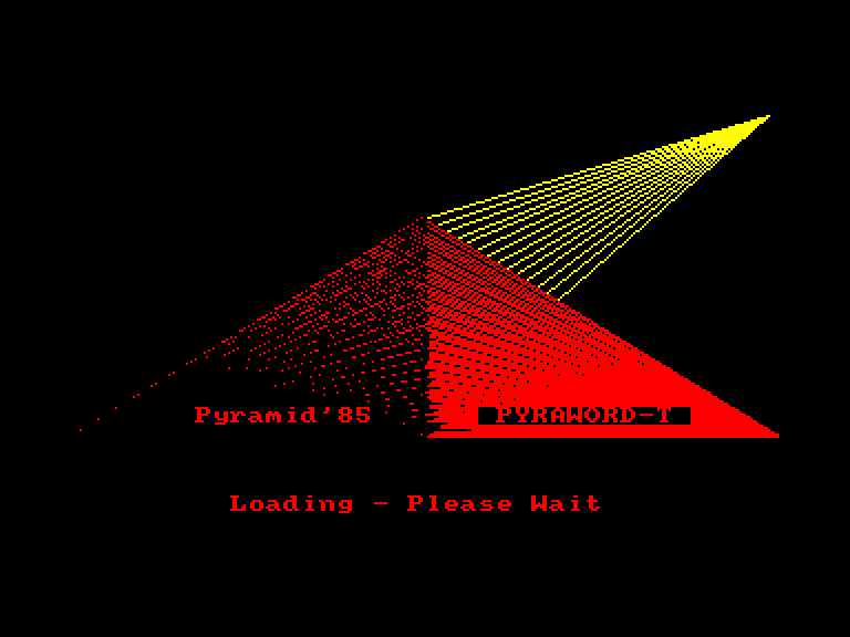 screenshot of the Amstrad CPC game Pyraword