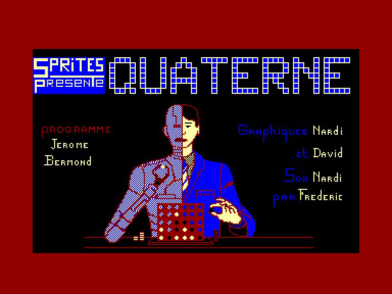 screenshot du jeu Amstrad CPC Quaterne