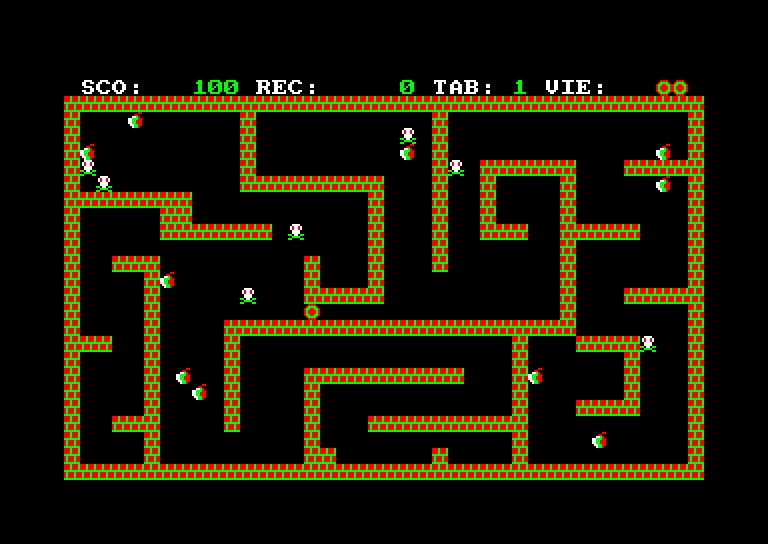 screenshot of the Amstrad CPC game Rapido
