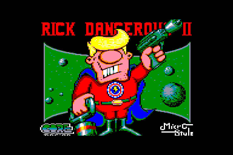 Amstrad CPC loading screen of Rick Dangerous 2