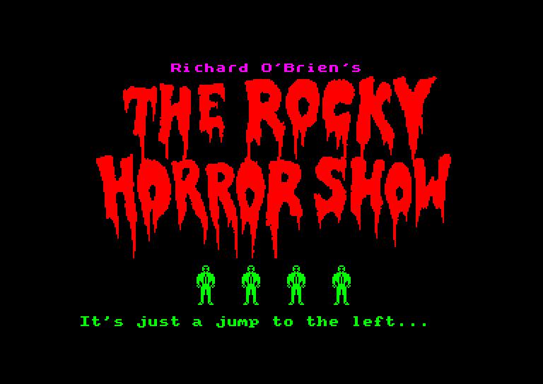 screenshot du jeu Amstrad CPC Rocky Horror Show (the)