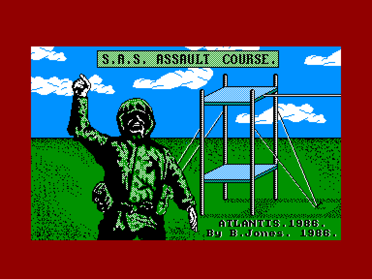 screenshot of the Amstrad CPC game Sas assault course