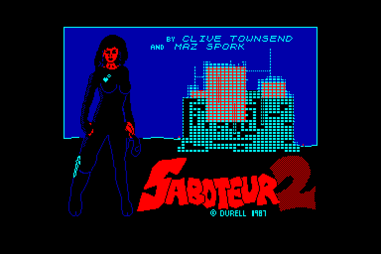 loading screen of the Amstrad CPC game Saboteur 2