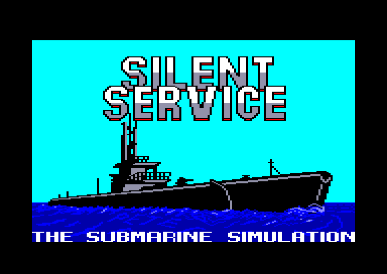 screenshot of the Amstrad CPC game Silent service