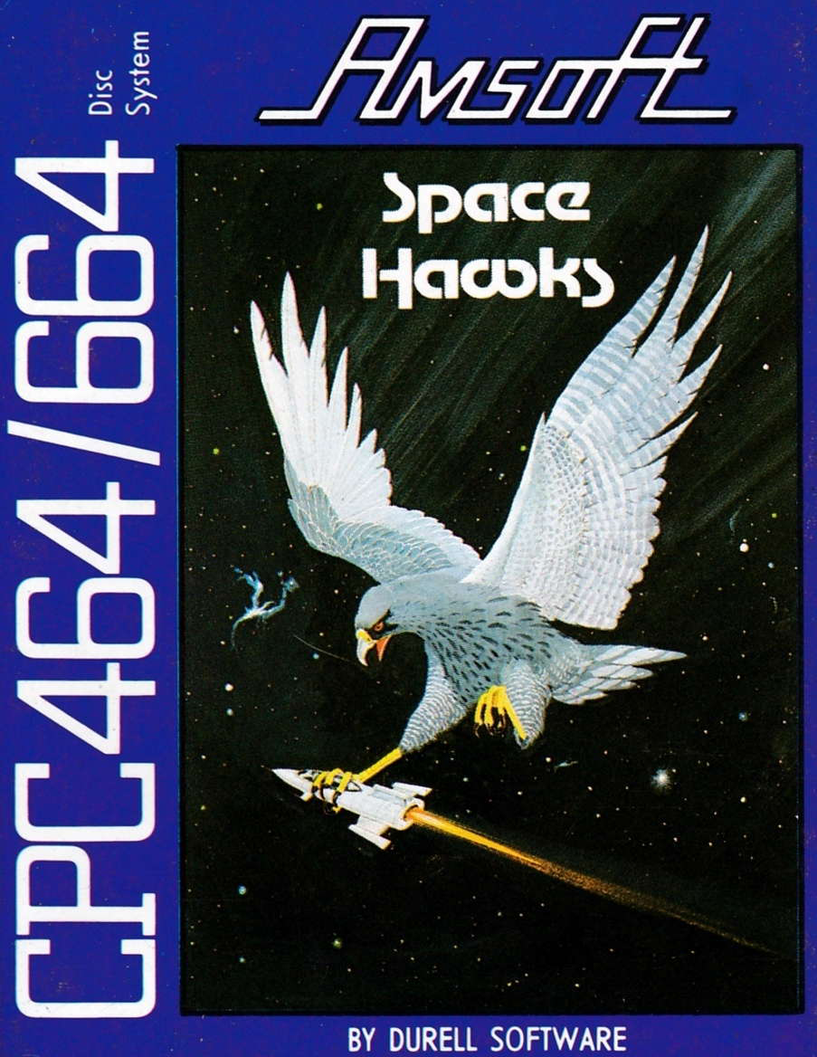 Space Hawks, shoot them up by Durell in 1984 for Amstrad CPC