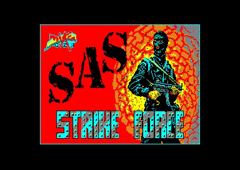 screenshot of the Amstrad CPC game Sas Strike Force