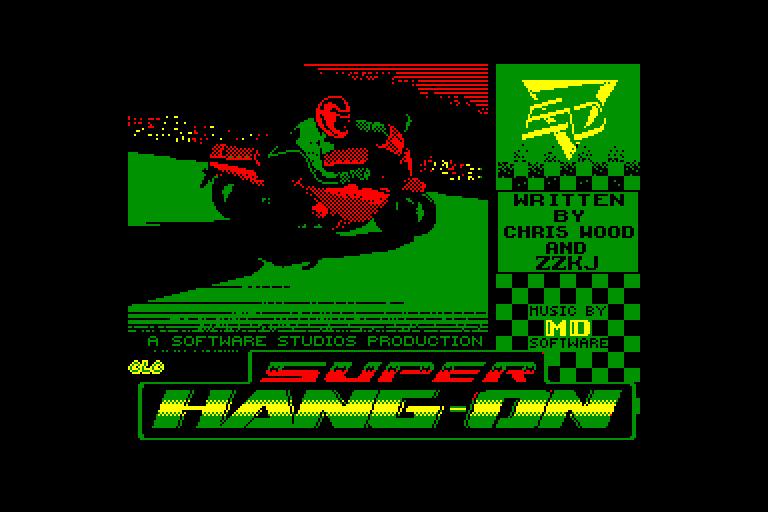 screenshot of the Amstrad CPC game Super Hang-On