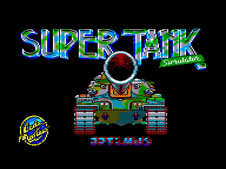 screenshot of the Amstrad CPC game Super Tank Simulator