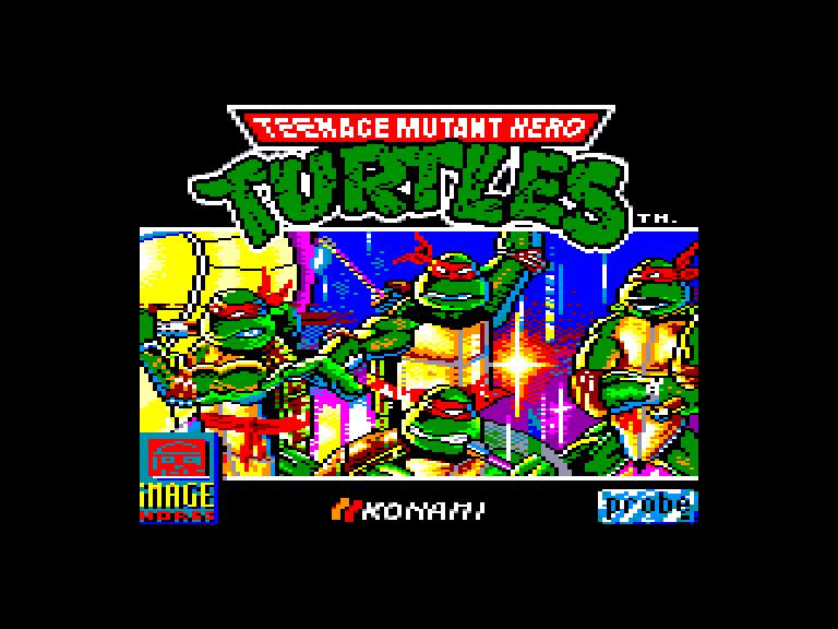 screenshot of the Amstrad CPC game Teenage Mutant Hero Turtles