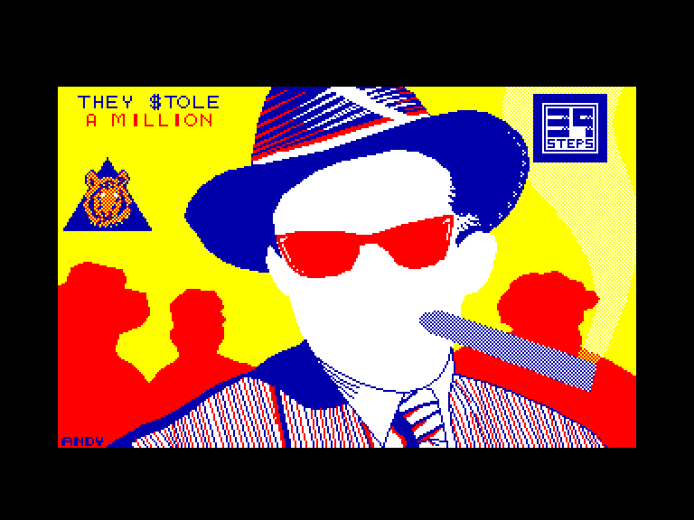 screenshot of the Amstrad CPC game They $tole a Million