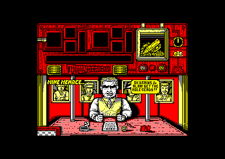 screenshot of the Amstrad CPC game Thunderbirds