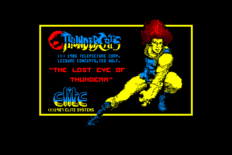 screenshot of the Amstrad CPC game Thundercats - The Lost Eye Of Thundera