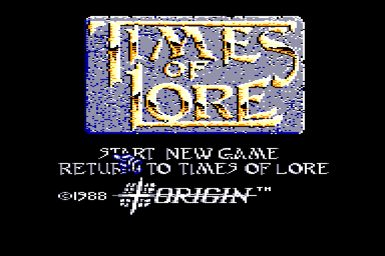 screenshot of the Amstrad CPC game Times of lore