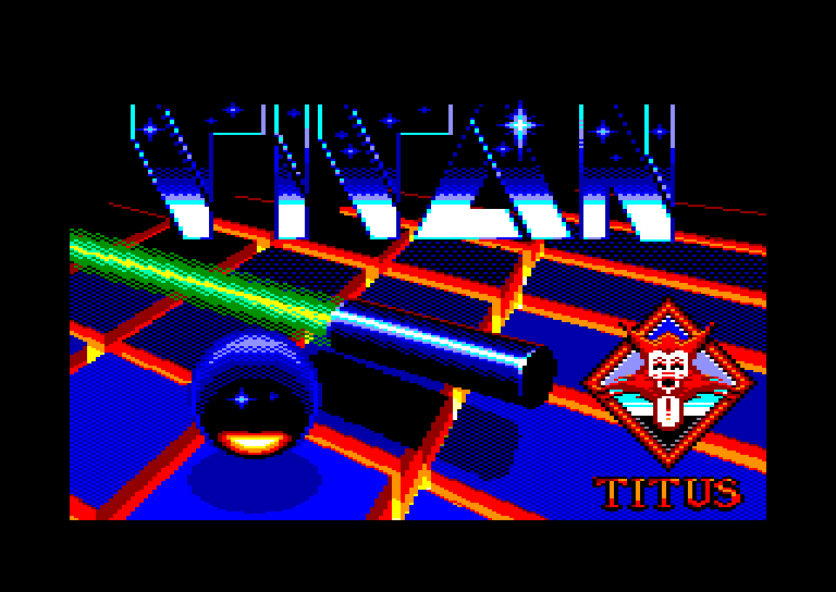 loading screen of the Amstrad CPC game Titan by Titus in 1988