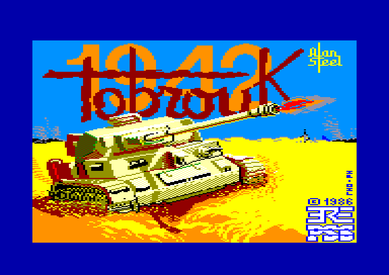 screenshot of the Amstrad CPC game Tobrouk 1942