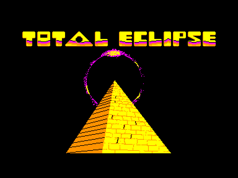 screenshot of the Amstrad CPC game Total Eclipse