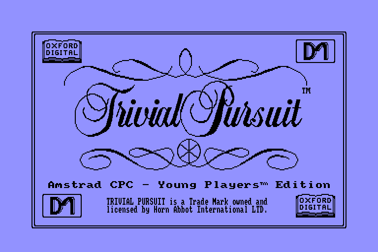 screenshot du jeu Amstrad CPC Trivial Pursuit - Young Players Edition