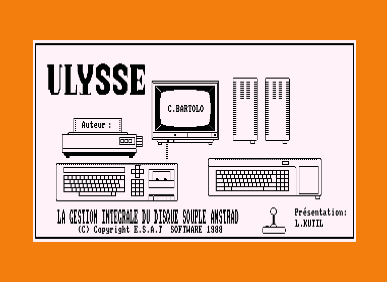 screenshot of the Amstrad CPC game Ulysse