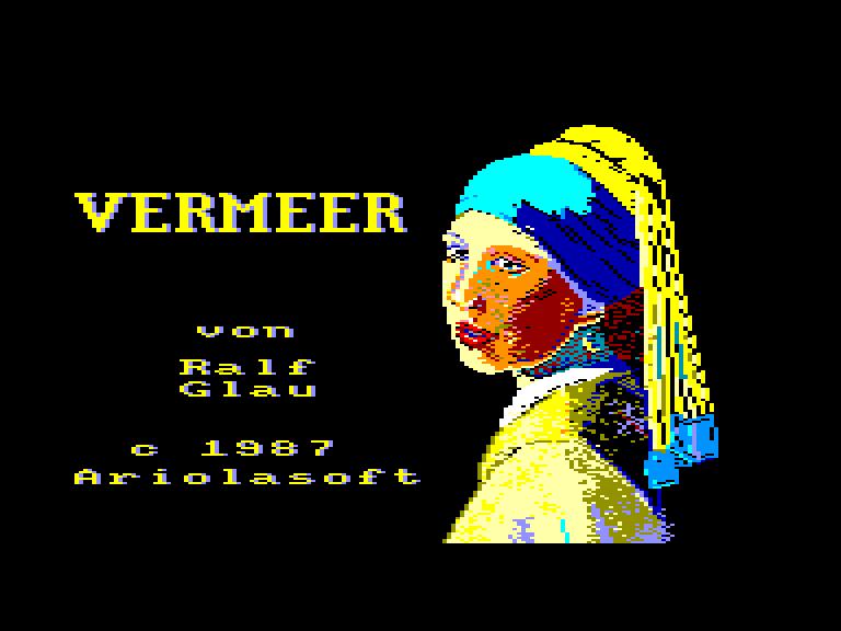 screenshot of the Amstrad CPC game Vermeer
