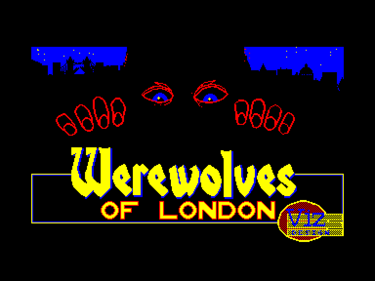 screenshot of the Amstrad CPC game Werewolves of London