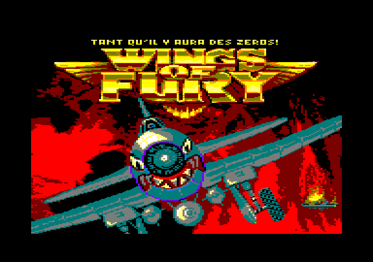 screenshot of the Amstrad CPC game Wings of fury