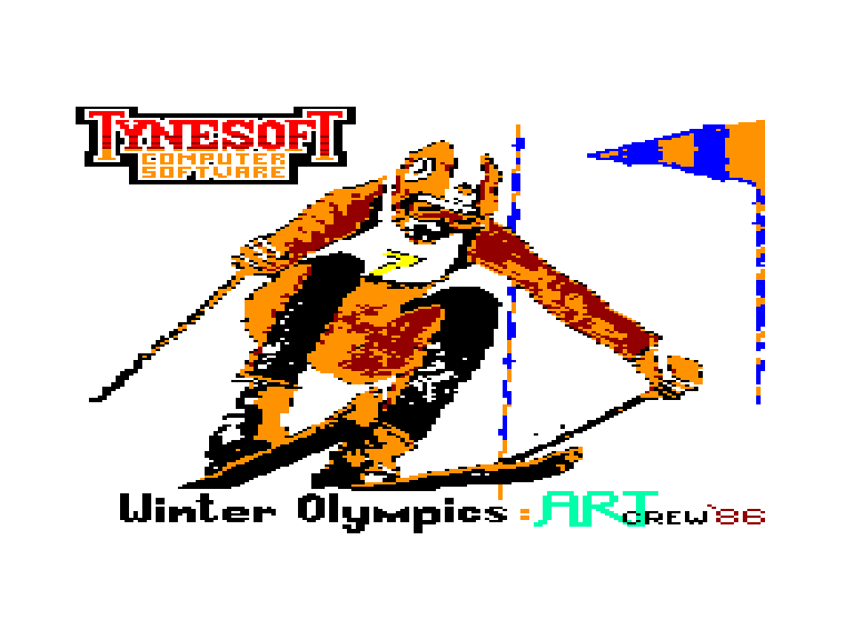 screenshot of the Amstrad CPC game Winter olympics