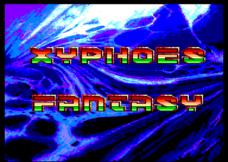 screenshot of the Amstrad CPC game Xyphoes Fantasy