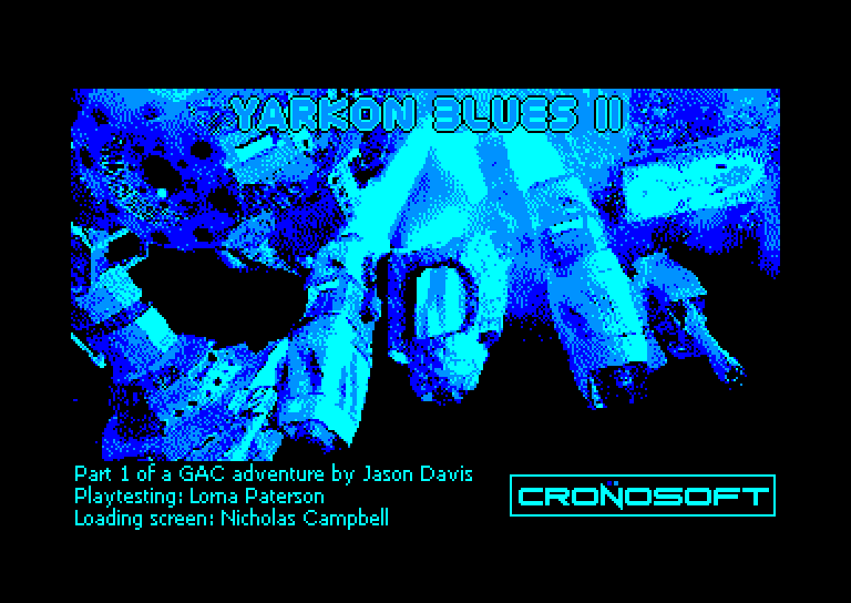 screenshot of the Amstrad CPC game Yarkon Blues II
