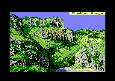 Cliff by Jill Lawson, mode 1 picture on an Amstrad CPC