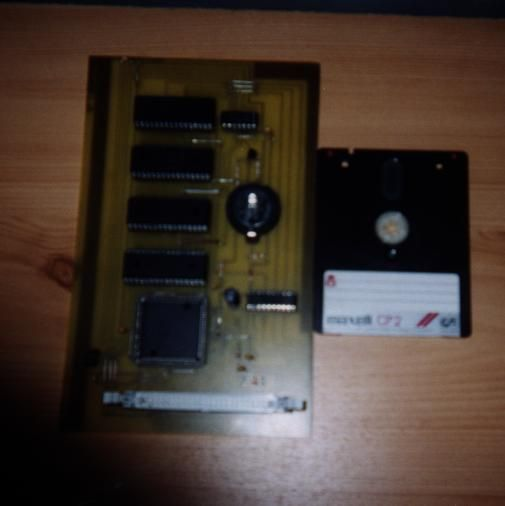 the memcard, a memory extension compatible with Dktronics