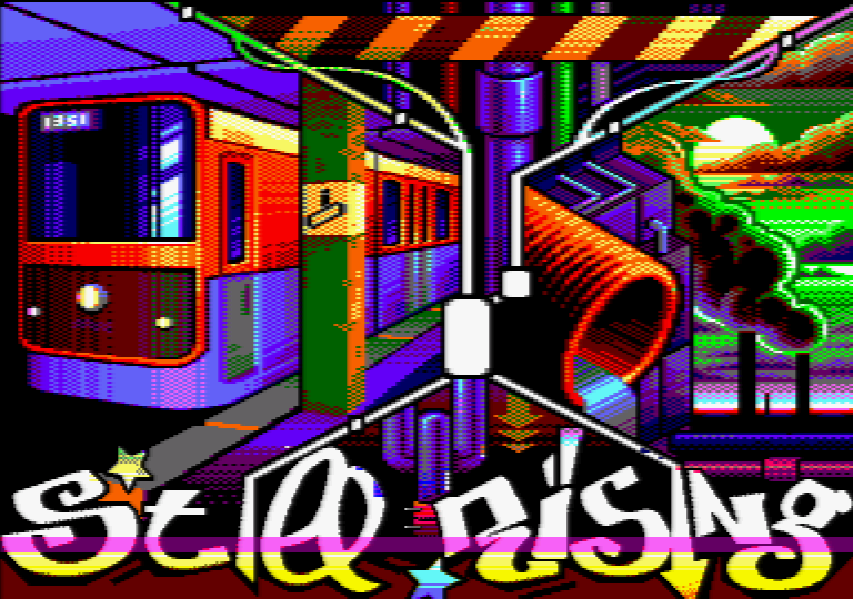 Still Rising, an Amstrad CPC demo by Vanity
